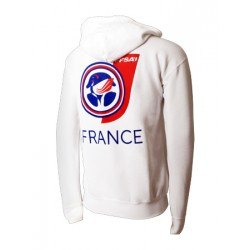 Sweat-shirt France Mixte Blanc